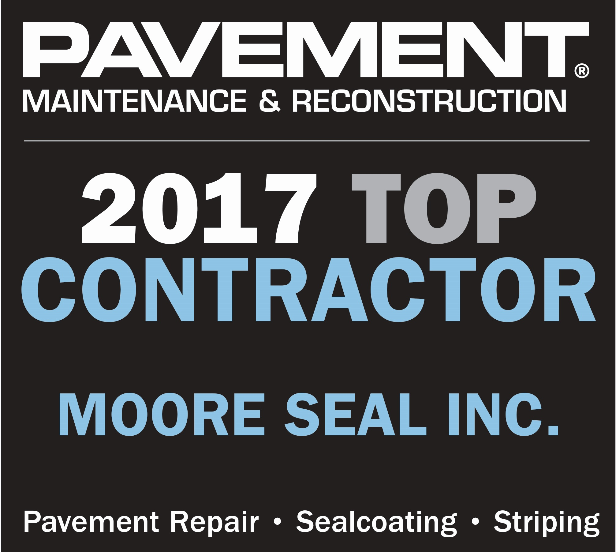 2017 Top Contractor Award - Homepage